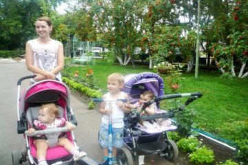 Дети до трёх лет бесплатно, при совместном проживании с ребенком двух родителей.